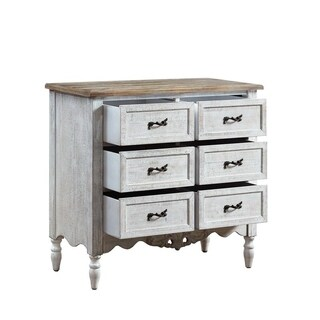 Powell Hope White/Natural Birchwood Console