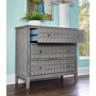 Powell Micah Grey Wood Console