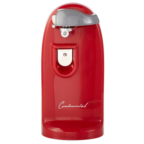 Continental Electric Tall Can Opener and Bottle Opener, Red