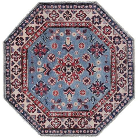 Herat Oriental Afghan Hand-knotted Kazak Vegetable Dye Wool Rug (3'2 x 3'2)