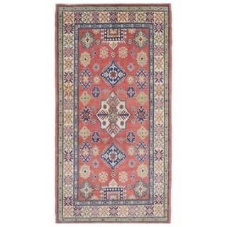 Herat Oriental Afghan Hand-knotted Kazak Vegetable Dye Wool Rug (3'3 x 6'6)