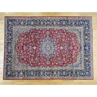 """Hand Knotted Red Persian with Wool Oriental Rug (9'4"""" x 13'2"""") - 9'4"""" x 13'2"""""""