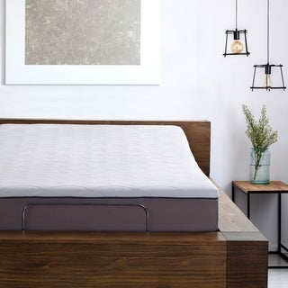 """Sleep Zone 10"""" Latex and Memory Foam Queen Mattress and Adjustable Base Set"""