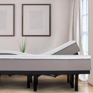 "Sleep Zone 10"" Latex and Memory Foam Cal King Split Mattress and Adjustable Base Set"