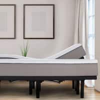 "Sleep Zone 10"" Latex and Memory Foam Split King Mattress and Adjustable Base Set"