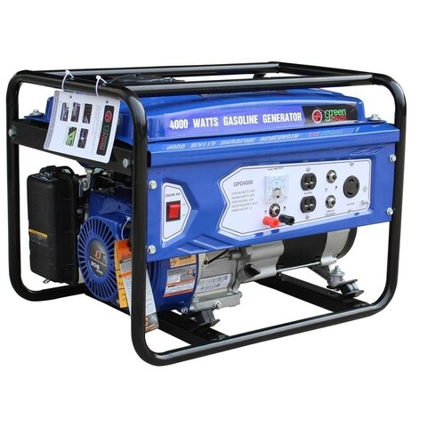Green Power 4000-Watt Gas Powered Portable Generator with LCT Engine - N/A