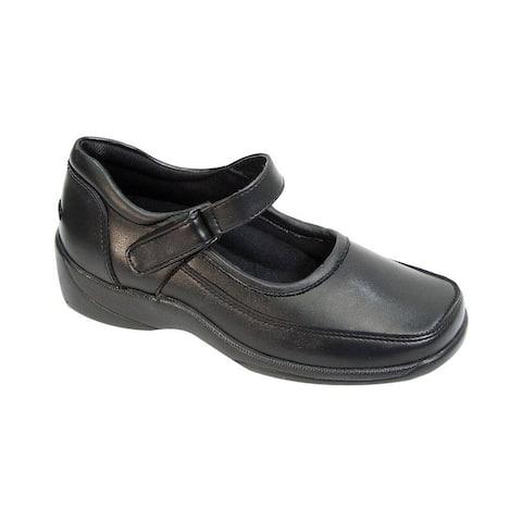 24 HOUR COMFORT Judy Women Wide Width Trendy Mary Jane Shoes