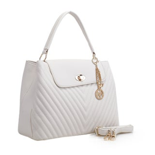 MKF Collection Yasmin Chevron Quilted Satchel Bag by Mia K Farrow