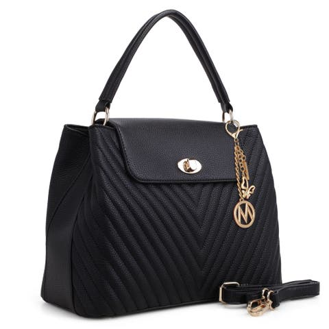 MKF Collection Yasmin Chevron Quilted Satchel Bag by Mia K.