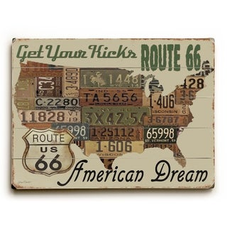 American Dream - Planked Wood Wall Decor by Jean Plout