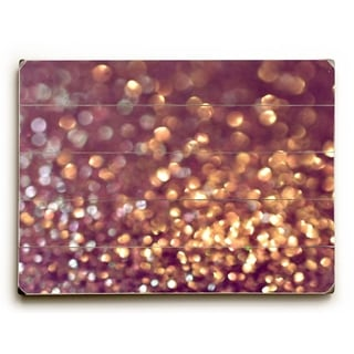 Sparkle Blur -   Planked Wood Wall Decor by Lisa Argyropoulos