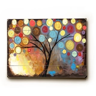 Rusty Floral Tree  -   Planked Wood Wall Decor by Danlye Jones