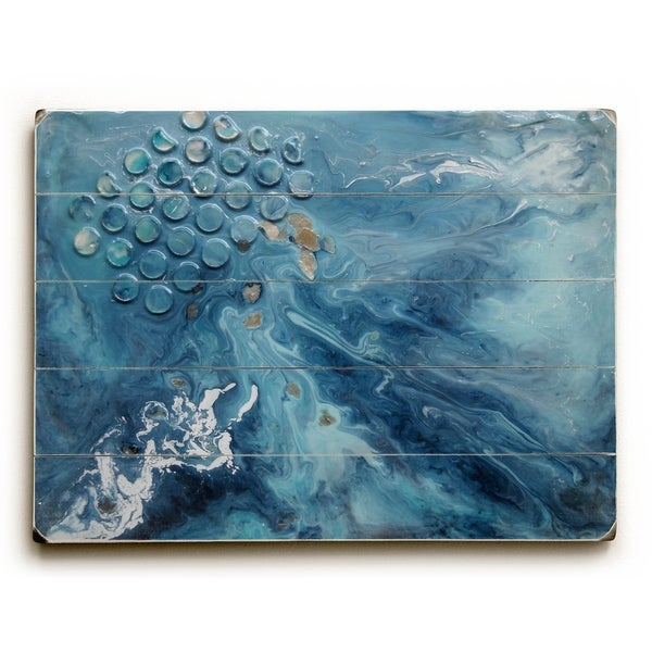 Sea Rhythm - Planked Wood Wall Decor by Carol Schiff