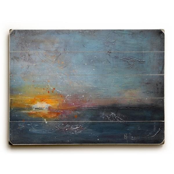 Nightfall - Planked Wood Wall Decor by Carol Schiff