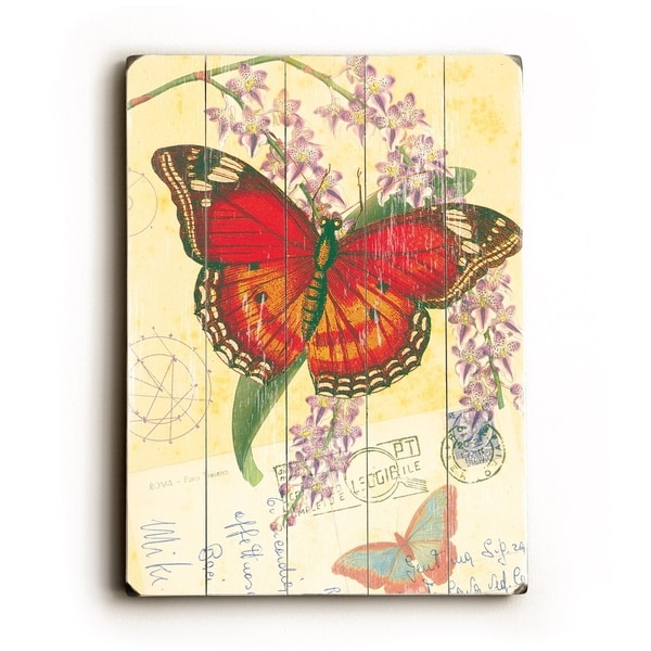 Butterfly - Planked Wood Wall Decor by Cory Steffen