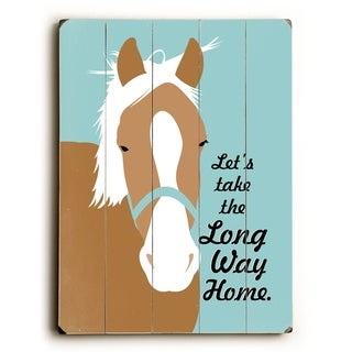 Let's take the Long Way Home -  Planked Wood Wall Decor by Going Places 2