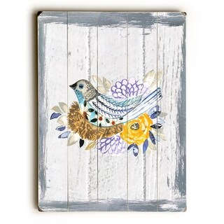 Painted Rustic Bird -   Planked Wood Wall Decor by Jennifer Rizzo Design