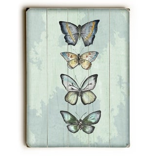 World of Butterflies - Green -   Planked Wood Wall Decor by Jennifer Rizzo Design