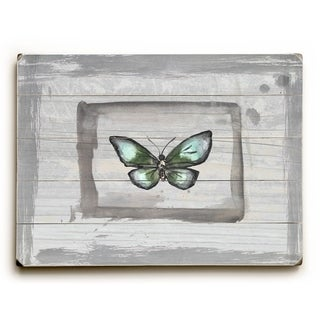 Weathered Butterfly -   Planked Wood Wall Decor by Jennifer Rizzo Design