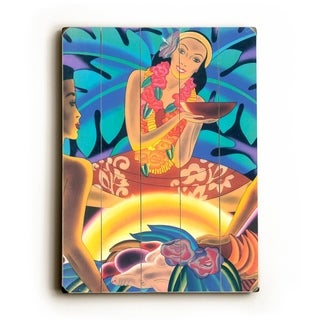 Luau by Frank McIntosh -   Planked Wood Wall Decor by Matson