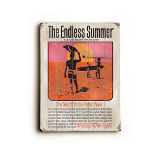 Endless Summer Movie Poster -   Planked Wood Wall Decor by Bruce Brown
