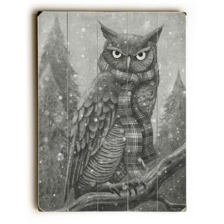 Winter Owl - Multi  Planked Wood Wall Decor by Terry Fan