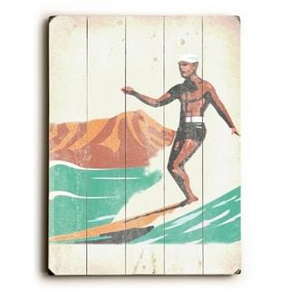Aloha Surf -  Planked Wood Wall Decor by  Wade Koniakowsky