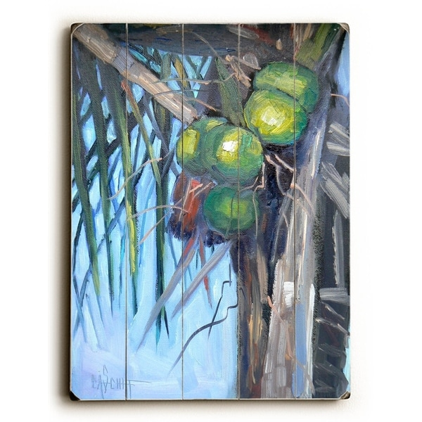 Going Coconuts - Planked Wood Wall Decor by Carol Schiff