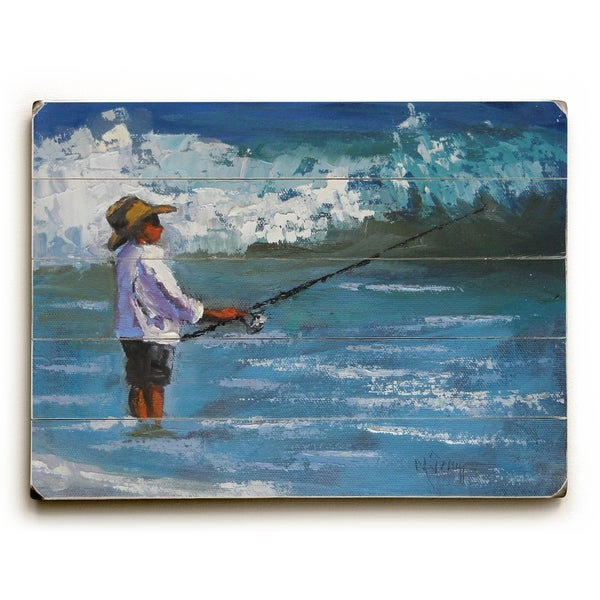 Reel Her - Planked Wood Wall Decor by Carol Schiff
