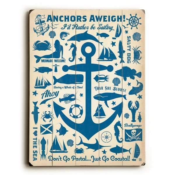 Anchors Aweigh! - Planked Wood Wall Decor by Anderson Design Group
