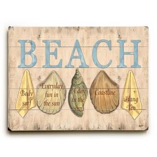 Beach -   Planked Wood Wall Decor by Debbie DeWitt