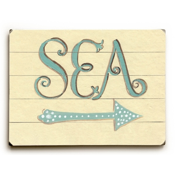 Sea - Planked Wood Wall Decor by Colette Cosentino