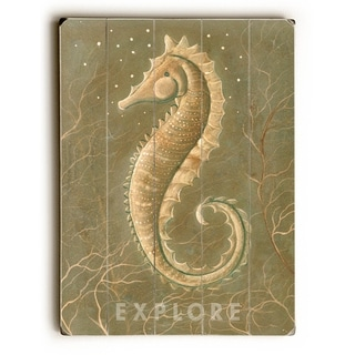 SeaHorse -   Planked Wood Wall Decor by Colette Cosentino