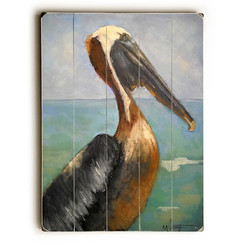 King of Flock - Planked Wood Wall Decor by Carol Schiff - Multi-Color