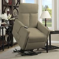 ProLounger Power Recline and Lift Chair Recliner in Sage Grey Microfiber