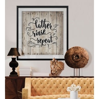 Lather -Custom Framed Print - blue, white, grey, yellow, green, silver, gold
