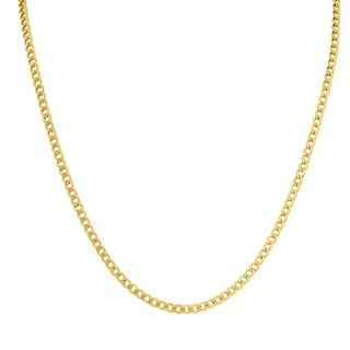 14K Yellow Gold Filled 3 3MM Curb Link Chain With Lobster Clasp 20 INCH