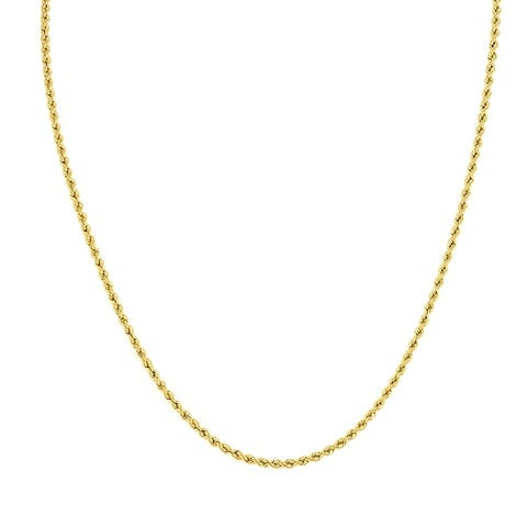 14K Yellow Gold Filled 2.1MM Rope Chain with Lobster Clasp - 30 Inch