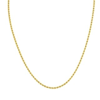 14K Yellow Gold Filled 2.1MM Rope Chain with Lobster Clasp - 36 Inch