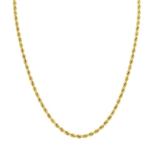 14K Yellow Gold Filled 3.3MM Rope Chain with Lobster Clasp - 18 Inch