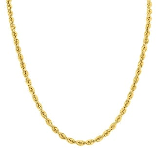 14K Yellow Gold Filled 4 5MM Twisted Rope Chain 24 Inches