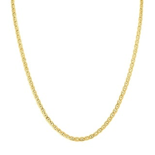 14K Yellow Gold Filled 3.2MM Mariner Link Chain with Lobster Clasp - 36 Inch
