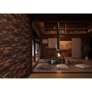 3D Mixed Brown Natural Solid Barn Wood Panels 10.40 SqFt Per Box