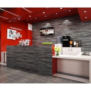 Link to 3D Dark Grey Solid Barn Wood Panels 10.4 SqFt Per Box Similar Items in Wall Coverings