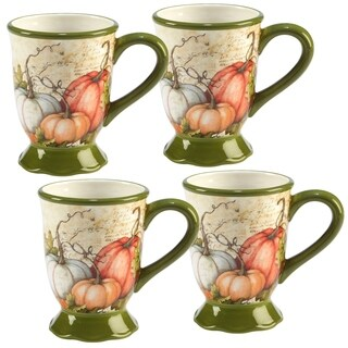 Certified International Autumn Fields 18 oz. Mug, Set of 4