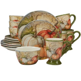 Certified International Autumn Fields 16-piece Dinnerware Set, Service for 4