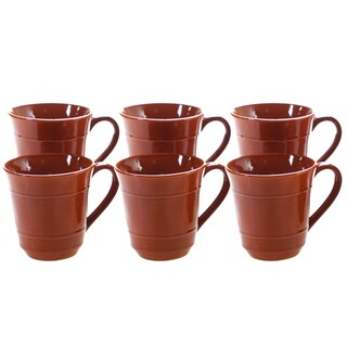 Certified International Autumn Fields Orbit 14 oz. Mugs, Set of 6
