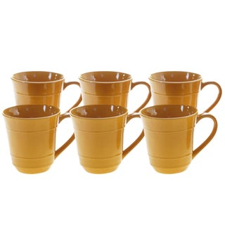 Certified International Autumn Fields Orbit 14 oz. Mugs, Set of 6