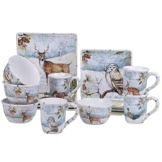 certified international winters lodge 16 piece dinnerware set
