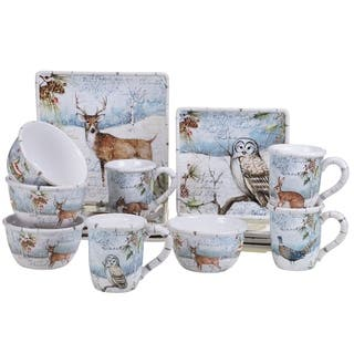 Certified International Winter's Lodge 16-piece Dinnerware Set, Service for 4